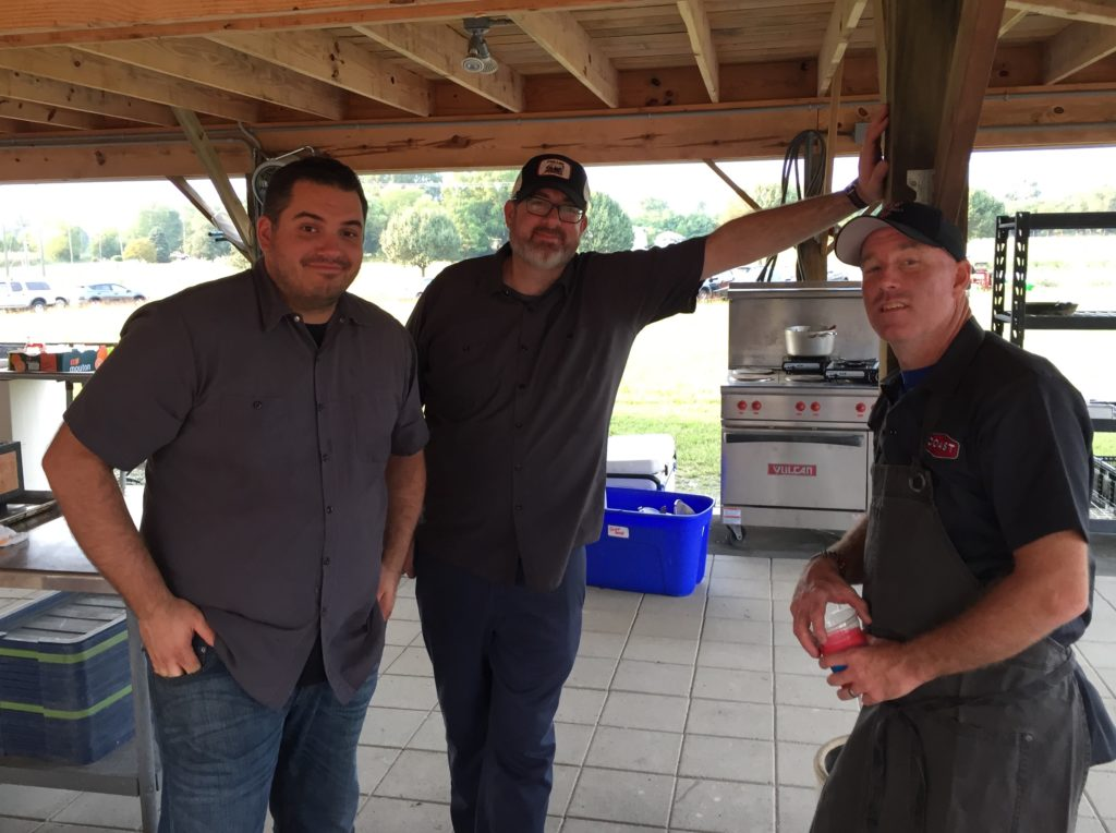 Chefs Joe Sparatta of Heritage & Southbound, Lee Gregory of The Roosevelt & Southbound, & Brian Enroughty of Richmond Restaurant Group